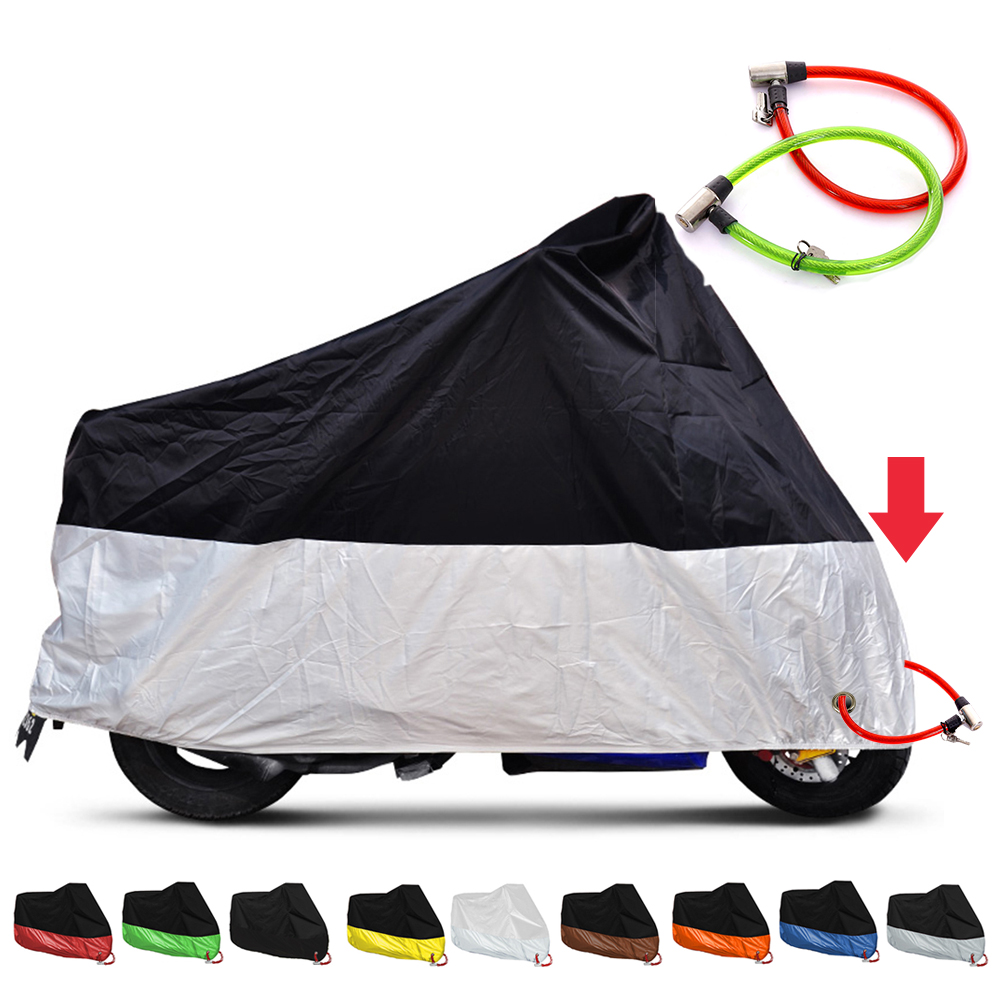 Motorcycle Covers UV Anti Rain Waterproof Outdoor Motocross Cover Winter For Bache Moto Protection Housse For Honda Shadow