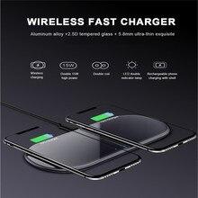 Двойное Беспроводное зарядное устройство Qi 15 Вт с кабелем type-C для быстрой зарядки док-станция для IPhone 11 XR XS для samsung Note 10 S10 S9 S8