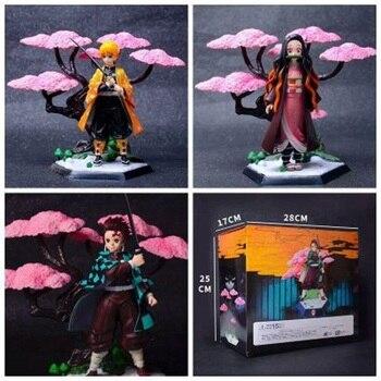 цена на 4 types Japan Anime Cartoon Demon Slayer Kimetsu no Yaiba figure Tanjirou Kamado PVC Action Figure model kids Birthday toy gift