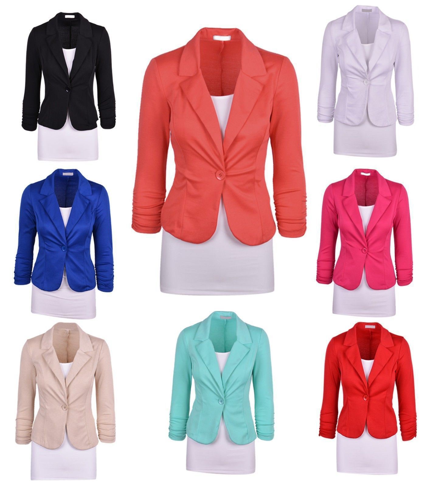 Women Blazer Harajuku Mama Fashion 2020 Single Button Red Blazer Plus Size Jackets for Girl Korean Style