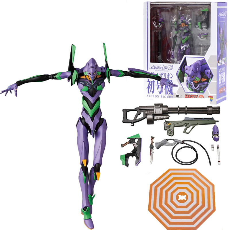 Mafex 080 <font><b>EVA</b></font> EVANGELION TEST TYPE <font><b>EVA</b></font>-<font><b>01</b></font> Action <font><b>Figure</b></font> Collectable Model Toy image