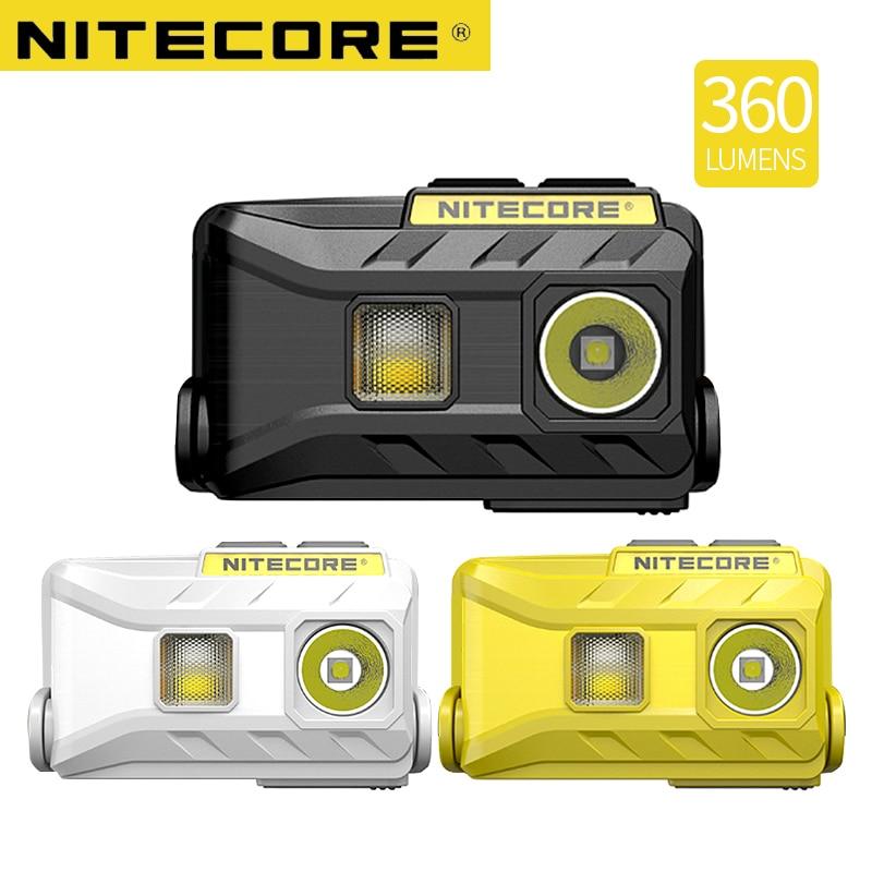 Nitecore NU25 lampe frontale LED Rechargeable 360 Lumen Triple sorties léger phare lampe de poche en plein air course cyclisme