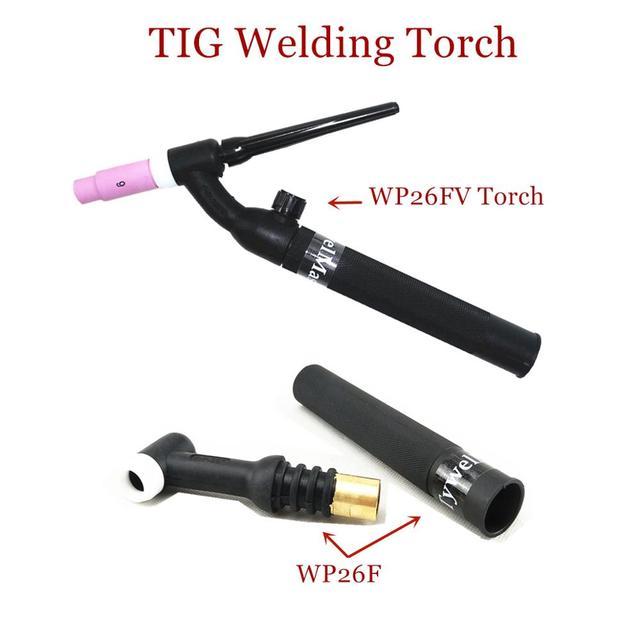 WP26 FV TIG meşale GTAW gaz Tungsten ark kaynak meşale WP26 Argon hava soğutmalı WP 26 esnek boyun gaz vanası TIG kaynak meşale