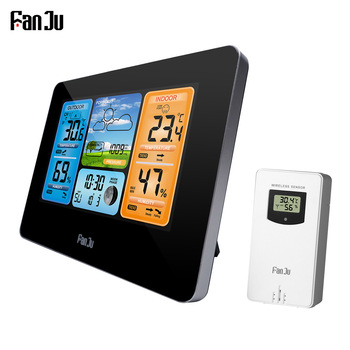 FanJu FJ3373 Professional Digital Indoor Outdoor Barometer Thermometer Hygrometer Weather Station LCD Alarm Clock
