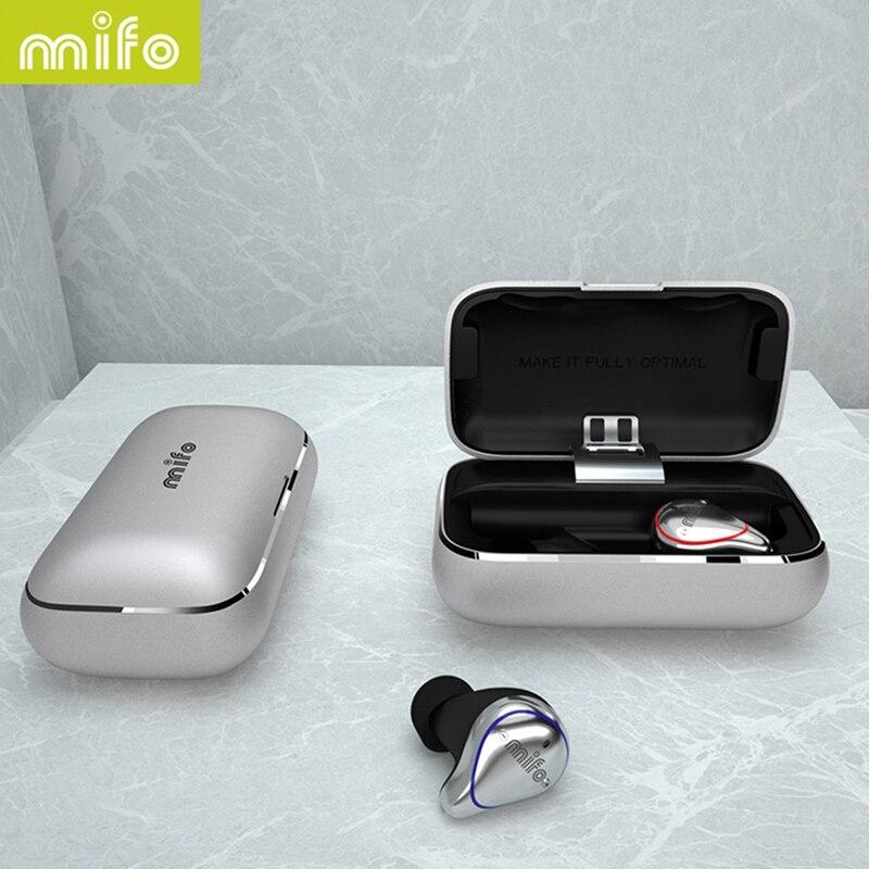 Transporte a partir de Rússia Mifo O5 TWS Mini Bluetooth 5.0 Sem Fio Fones de Ouvido À Prova D' Água Earhones 3D Stereo Som Fones de Ouvido