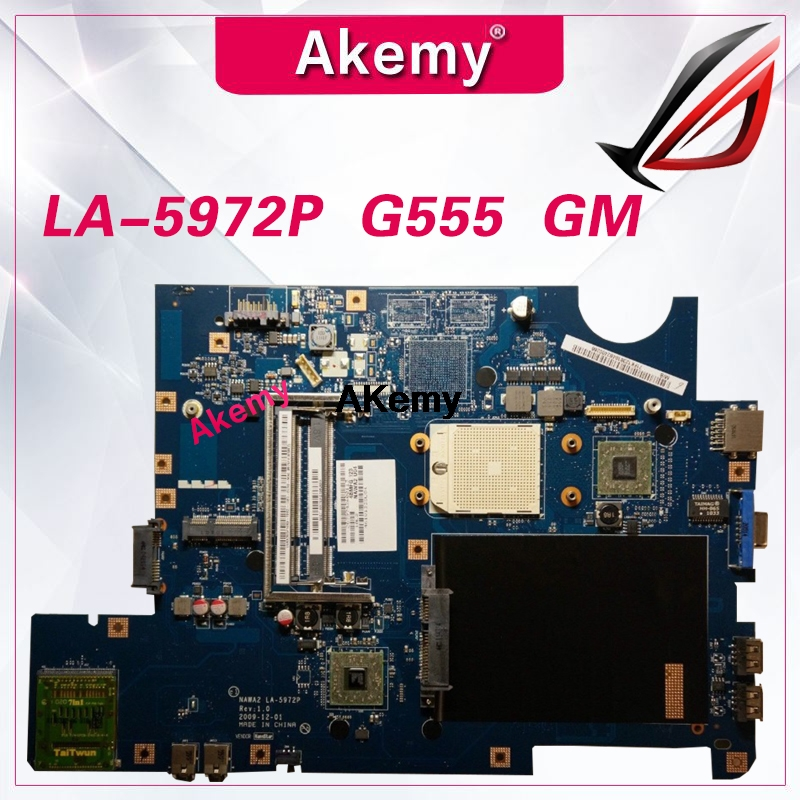 Laptop Motherboard Mainboard Notebook G555 LA-5972P Original For Lenovo Ddr2-Test NAWA2