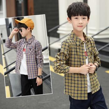 Boys Fashion Patchwork-Pattern Shirts