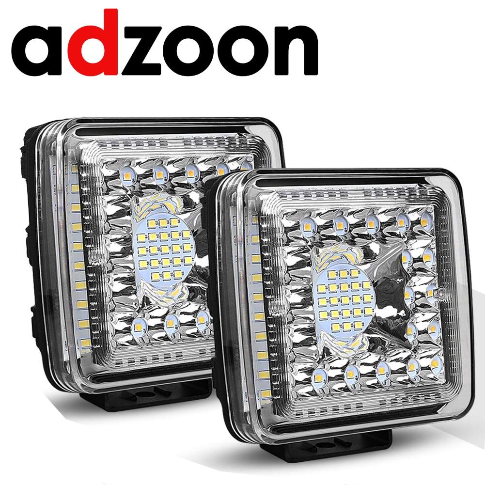 ADZOON 4inch 231w LED Work Light 12v 24v Offroad Car Lights for Truck Bus Boat Fog Light Car Light Assembly