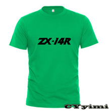 Tees T-Shirt KAWASAKI Short-Sleeve Round-Neck Men 100%Cotton for Zx-14r/Zx/14r/Abs New