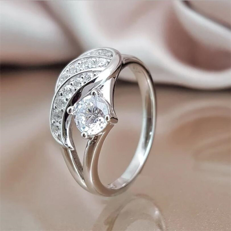 Модные популярные изысканные «Крылья Ангела» женское кольцо
