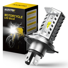 AUXITO 9003 H4 Led Motorcycle Headlight 12V H4 Led Moto Bulbs 16000LM Super Bright 6500K White Motorbike Head Lamp Accessories