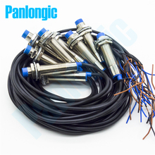 10 sztuk M12 indukcyjny czujnik zbliżeniowy przełączniki 4mm wykrywanie PNP/NPN DC6 36V NO/NC normalnie otwarty LJ12A3 4 Z/BY AY BX BY