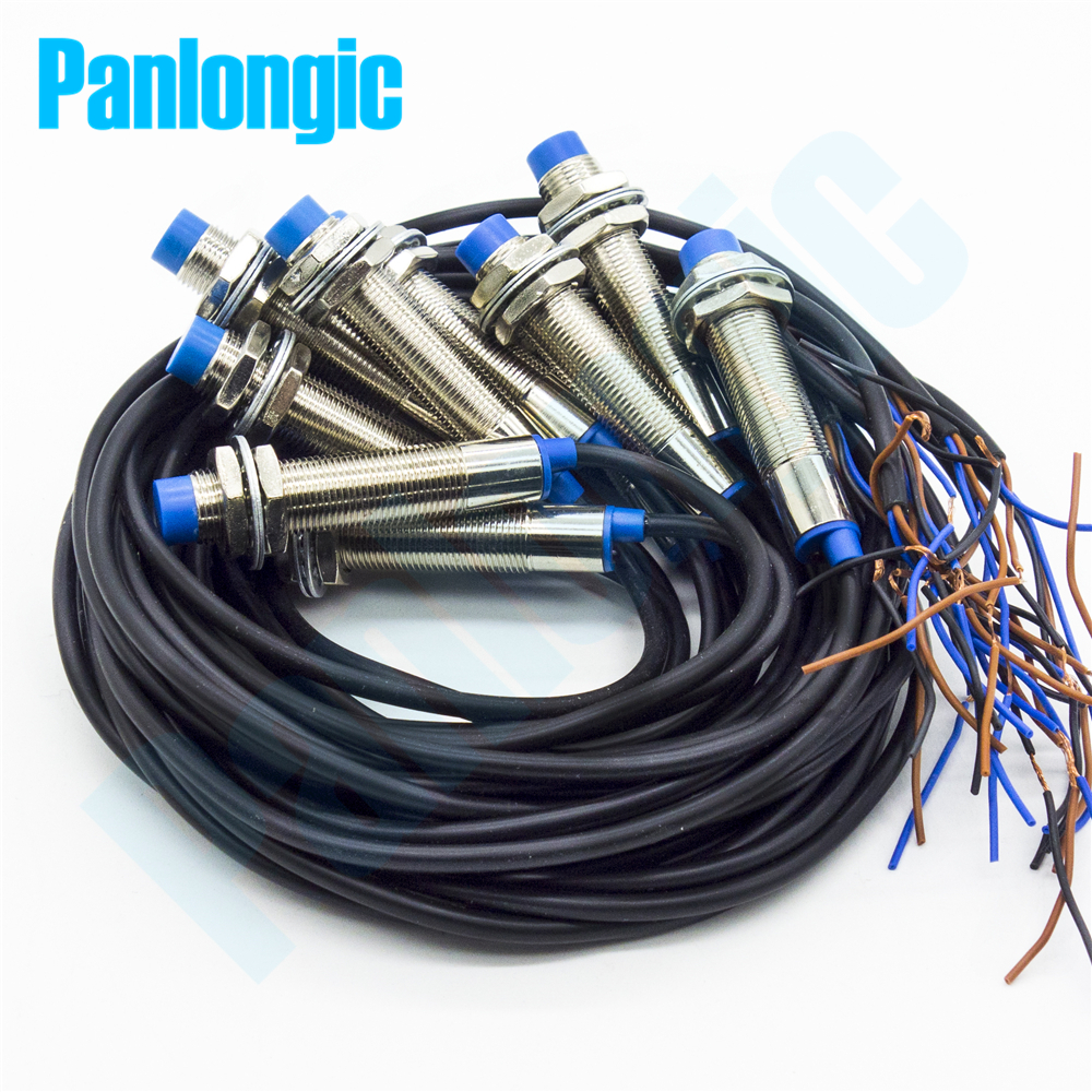 10Pcs M12 Inductive Proximity Sensor Switches 4mm Detection PNP/NPN DC6-36V NO/NC Normally Open LJ12A3-4-Z/BY AY BX BY
