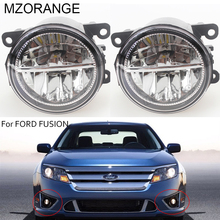 For FORD FUSION (JU_) 2002-2015 Automotive Styling Modified Front Bumper LED Fog Lamps LED Daytime Running Lights 12V.1 Set led front fog lights for ford fusion estate ju 2002 2008 car styling round bumper drl daytime running driving fog lamps