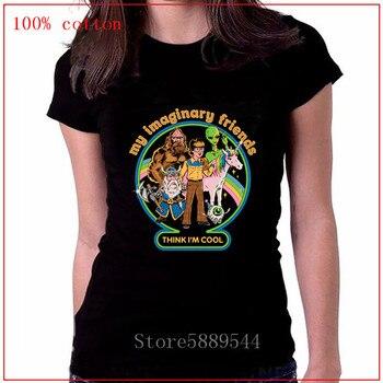 Nueva camiseta de Satán para hombres y mujeres, my imaginary friends my first vudú doll, camiseta de Halloween, camiseta psicodélica de horror para hombre y mujer