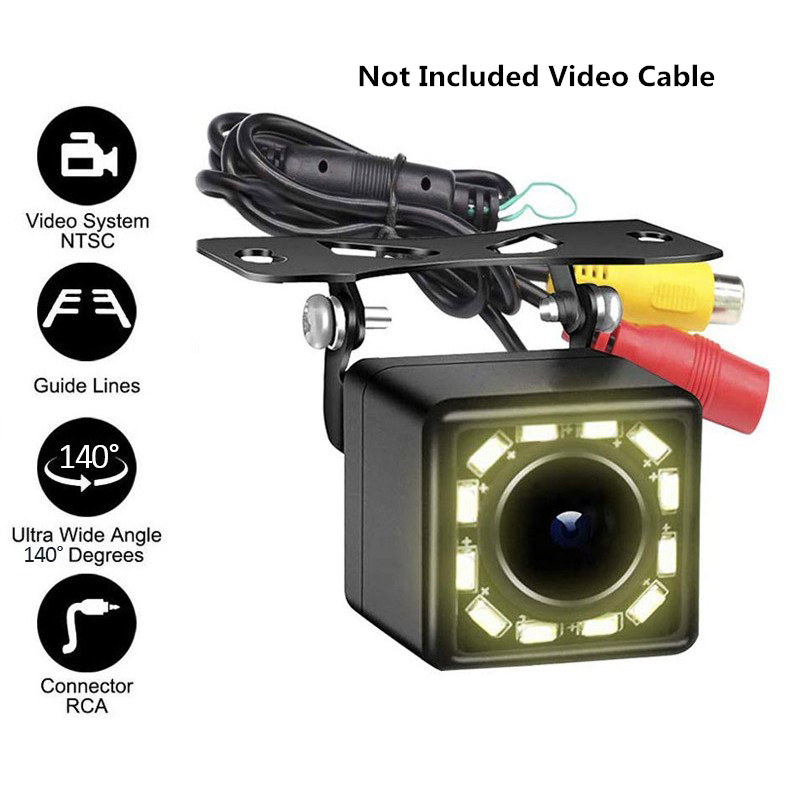 12 LED HD Car Rearview Camera DVD Reverse Backup Parking Camera Night Vision 140 Degrees Wide Angle Waterproof Rearview Cameras