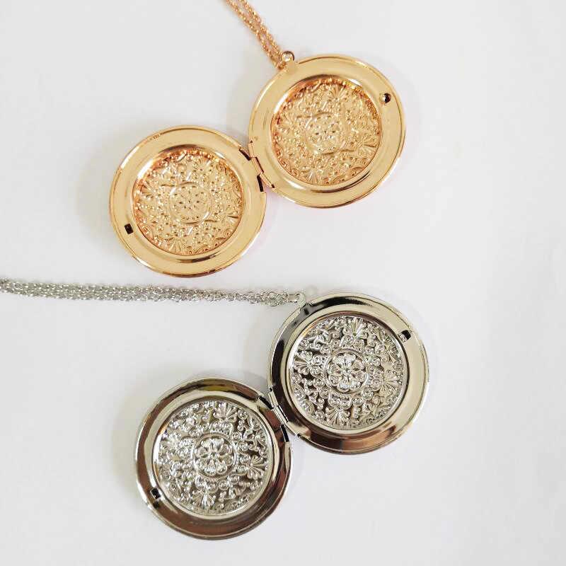 Zavorohin может положить кулон с фото ожерелье Openable большие часы Круглая Коробка чокер фото ожерелье с рамкой ювелирные изделия для женщин