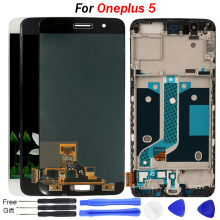 Original AMOLED For Oneplus 5 A5000 LCD Display Touch Screen Digitizer Assembly One plus With Frame