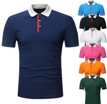 2018 New Style Men Cotton High Quality Short-sleeved Polo Shirt(China)