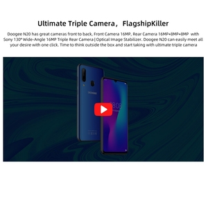 """Image 5 - DOOGEE N20 Mobile Phone Android 9.0 4G LTE MTK6763V Octa Core 4GB RAM 64GB ROM 6.3"""" FHD+ 19:9 Display 16.0MP 4 Cameras 4350mAh"""