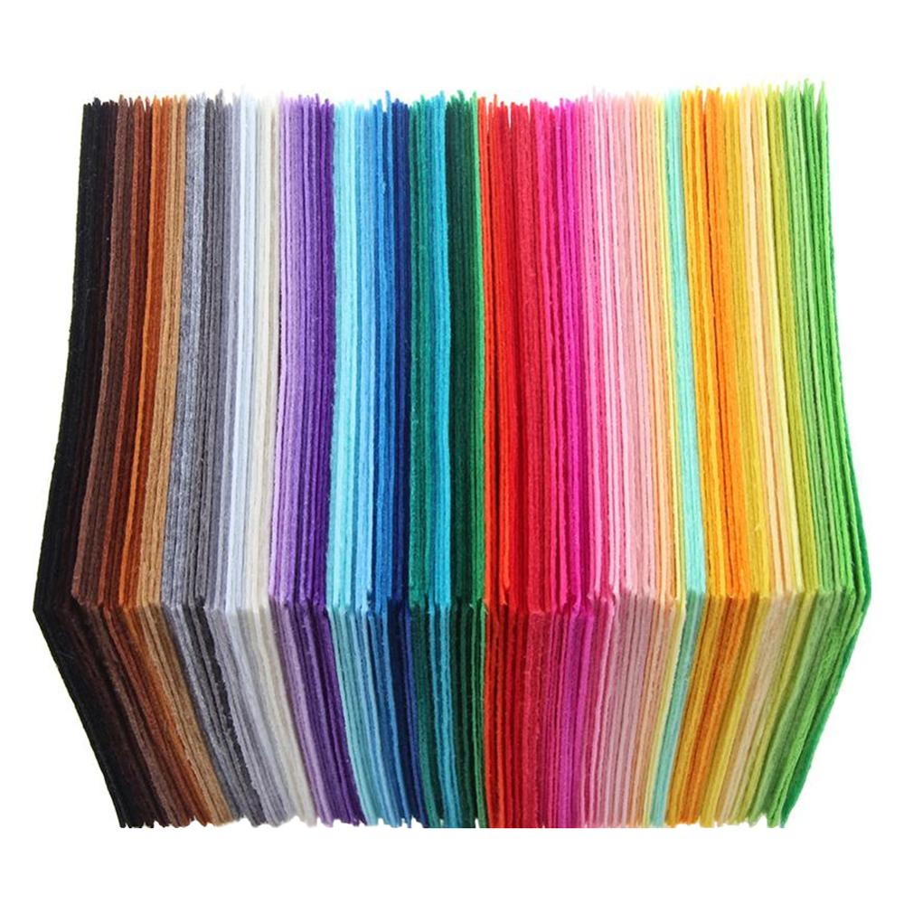 40Pcs Non Woven Felt Fabric 1mm Thickness Polyester Cloth Felts Of Home Sewing Wedding Decoration Craft Cloths DIY Colorful