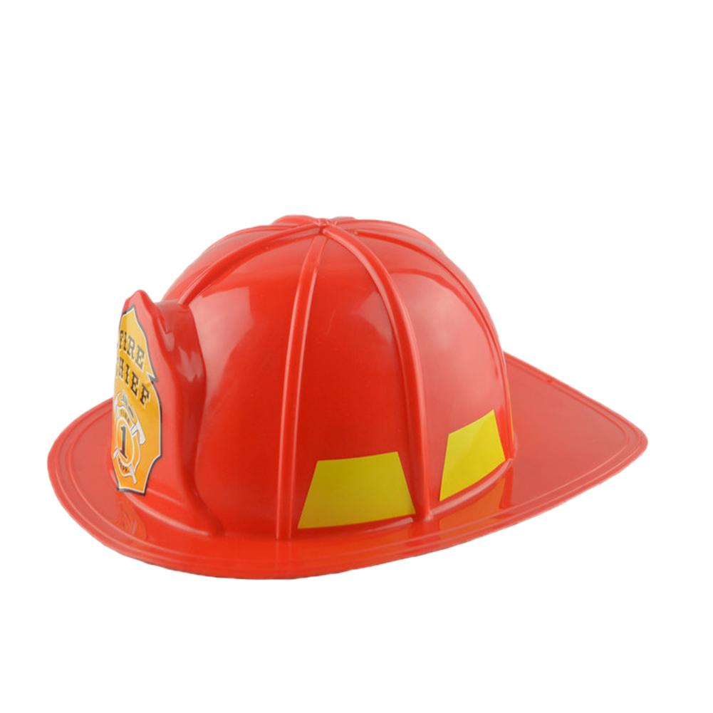 Simulation Fireman Chief Safety Helmet Firefighter Hat Cap Kids Toy Party Supply Kids Halloween Christmas Cosplay