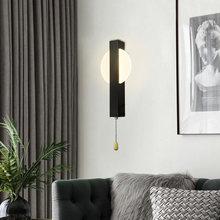 Artpad яркий настенный светильник для спальни 7 Вт с переключателем