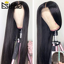 Straight Lace Wig Human Hair Peruvian Pre Plucked L