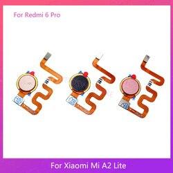 Pengganti untuk Xiao Mi Mi A2 Lite/Merah MI 6 Pro Sensor Sidik Jari Kunci Tombol Home Touch ID Flex kabel
