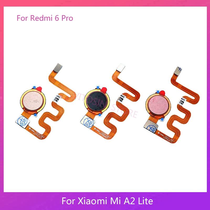 Replacement For Xiaomi Mi A2 Lite /Redmi 6 Pro Fingerprint Sensor Home Button Key Touch ID Flex Cable