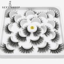 SEXYSHEEP 3/7/10 pairs Faux 3D Mink Lashes Natural Long False Eyelashes Volume Fake Lashes Makeup Extension Eyelashes maquiagem