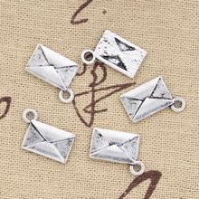 25 шт буквы амулеты конверт 15х11 мм Античные Подвески из серебра DIY ожерелье поделки сделанные результаты ручной работы тибетские ювелирные и...