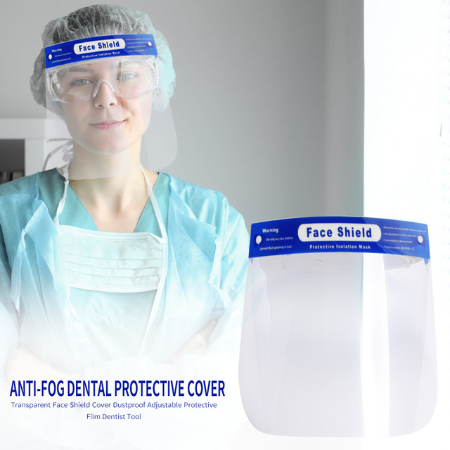 1-5PCS Transparent Anti Droplet Dust-proof Protect Full Face Covering Mask Safety Protection Visor Shield Stop The Flying Spit 1