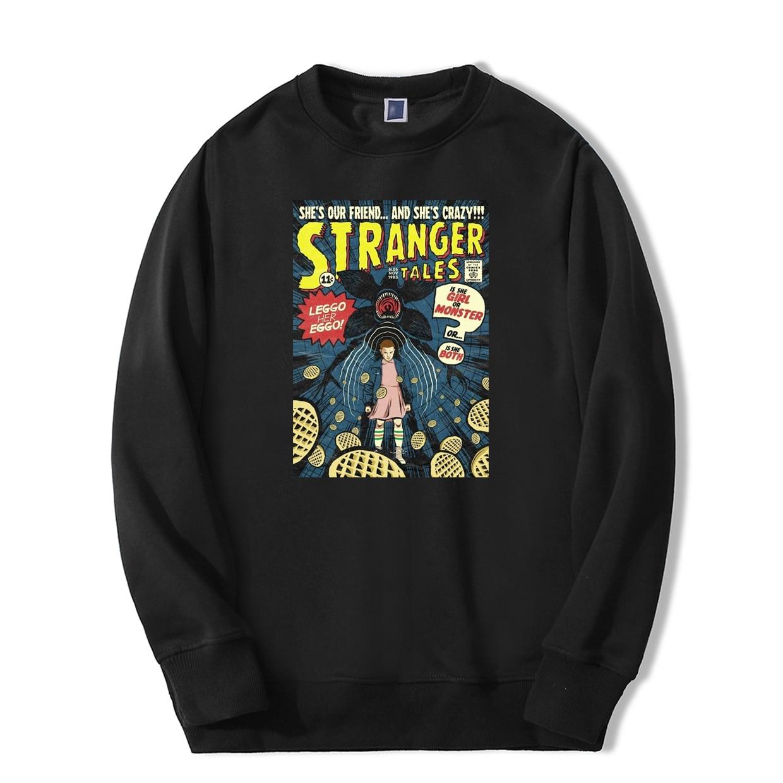 2019 New Fashion Print Sweatshirts Hoodie Mens Warm Sportswear Eleven Girl Stranger Things TV Show Casual Hip Hop Tracksuit