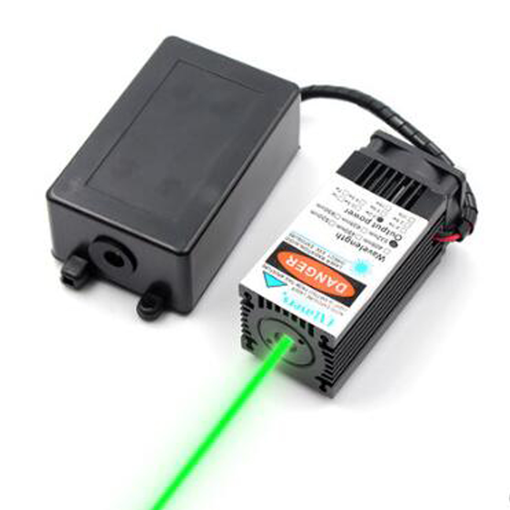 532nm 120mW 12V Green Laser Diode Module With Fan TTL Laser Beam With Bracket