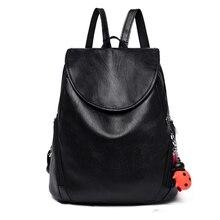 Women pu leather backpack for school Backpacks Teenage Girls Female School Shoulder Bag Bagpack mochila ladies back packs