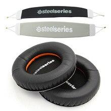 עבור SteelSeries סיביר V3 V2 V1 פריזמה משחקי אוזניות אוזניות אודיו סרט כרית ראש להקת רפידות + אוזן כרית