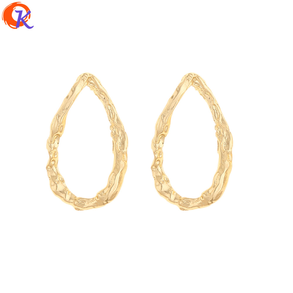 Cordial Design 100Pcs 15*27MM Jewelry Accessories/DIY Making/Earrings Connectors/Twisty Oval Shape/Hand Made/Earring Findings