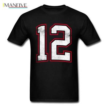 Number Twelve 12 T Shirt Men Clothing Team T-shirt Black Tee Shirts Vintage Graphic Tops Summer School Tshirt Plus Size
