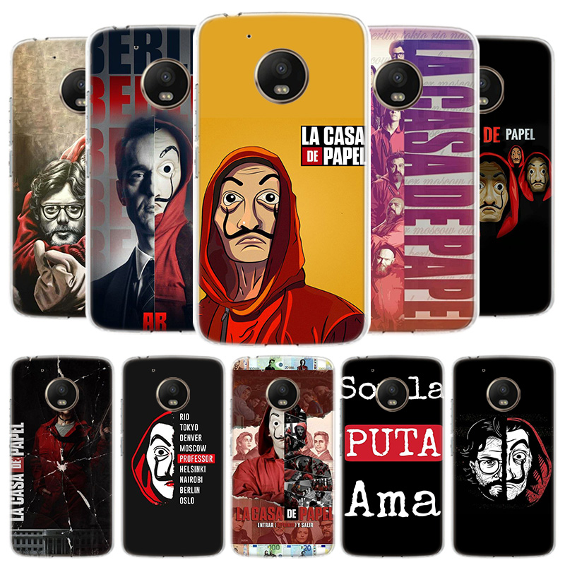 TV La Casa De Papel Cover Phone Case For Motorola Moto G8 G7 G6 G5S G5 E4 Plus G4 E5 E6 Play Power One Action EU Gift Shell