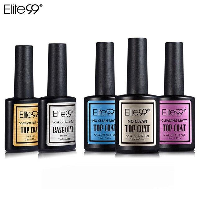 Elite99 Gel Nagel 15ml Top Coat Top + Basis Mantel Foundation für UV Gel Polish Beste Nagel Lack Lack matte Top UV Gel Lack