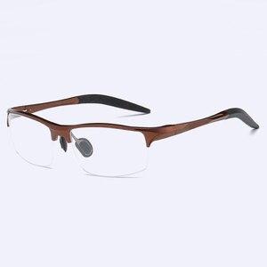 Image 4 - Monture de lunettes optique pour homme, monture en alliage, 8177, Prescription lunettes pour hommes, demi jante