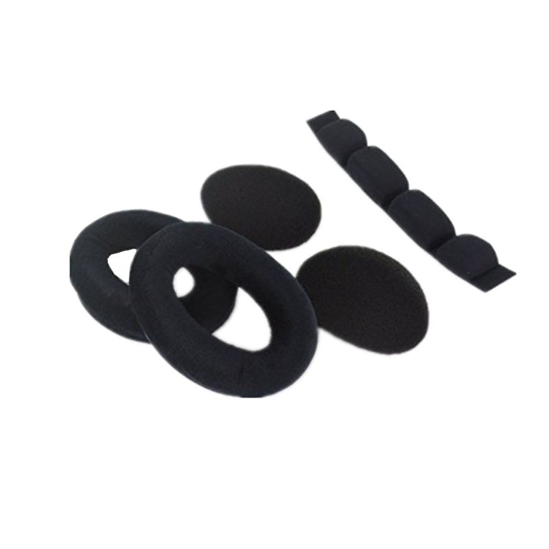 1Set Soft Foam Earpads <font><b>Ear</b></font> Cushion Cover Headband Soundproof Sponge for <font><b>Sennheiser</b></font> HD54 HD565 HD580 HD600 <font><b>HD650</b></font> Headphones image