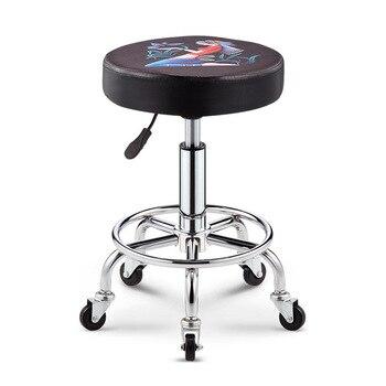 ретро барный стул | Винтажный регулируемый по высоте металлический стул вращающийся барный стул печать дизайнерские стулья ретро ностальгия/старая мебель