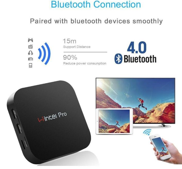 Wintel Pro TV Box Intel Z8350 Quad Core Mini PC 2GB 32GB 4.0 For Windows 10 TV Box W8 PRO