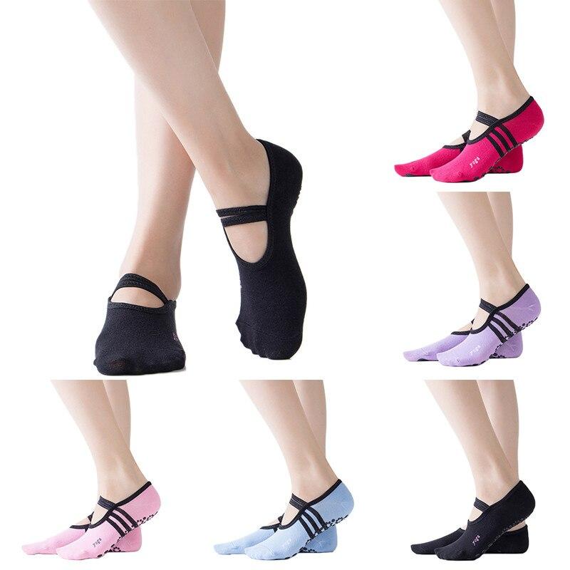 Barra Pilates Women's Ballet Yoga Dance Low To Help Socks Anti-skating Cotton Ankle Sneakers Professional Anti Slip Size 5-10
