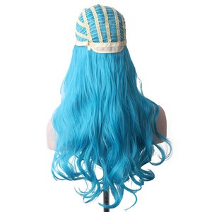 Image 5 - WoodFestival Ombre Synthetic Wig Heat Resistant Multicolored Red Black Blue Pink Brown Mint Green Long Wavy Hair Wigs for Women