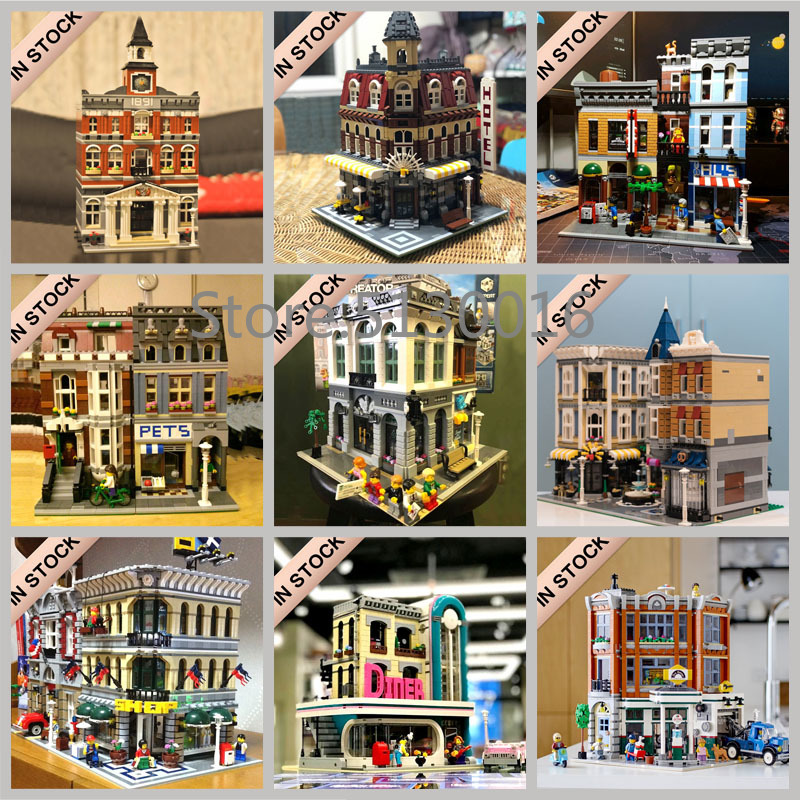 Creator Street View Building Blocks 15001 15002 15003 15004 15005 15006 15007 15008 15009 15010 15011 15019 15037 15039 15042 image