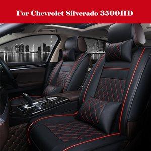 Чехлы на сиденья автомобиля, роскошные чехлы из искусственной кожи на 5 передних и задних сидений для внедорожников и грузовиков, полный ком...