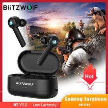BlitzWolf BW-FLB2 TWS Gaming bluetooth Earphone Wireless Earphones In-ear Low Latency HiFi Sound Gamer Earbuds with Microphone